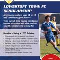 Lowestoft Town FC Scholarship Trial Date Announcement