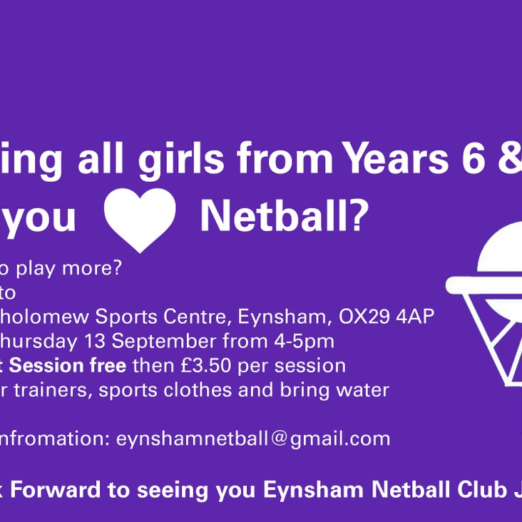 Junior Girls in Year 6 &amp; 7 wanted!!<