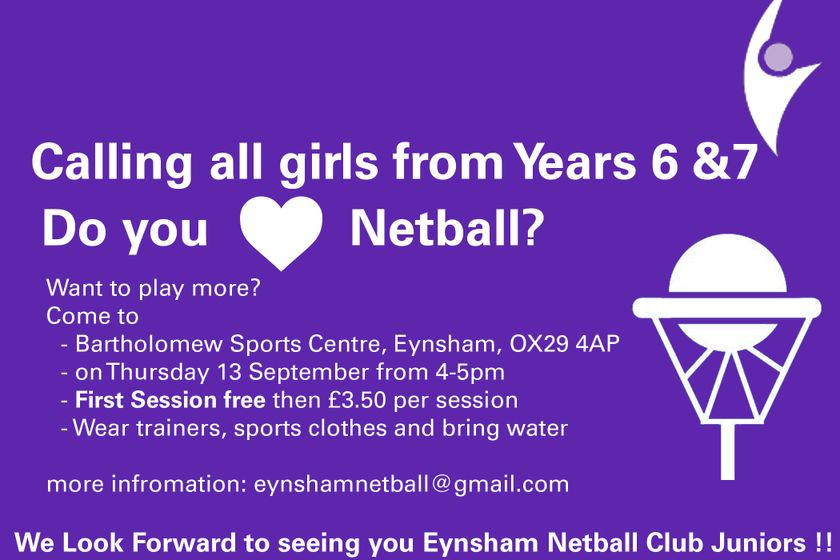 Junior Girls in Year 6 & 7 wanted!!