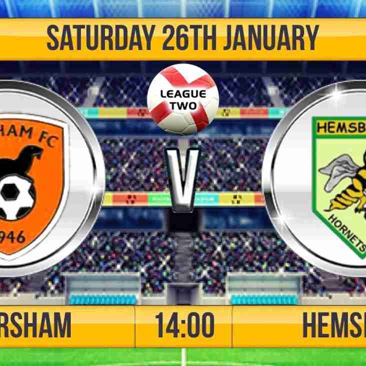 This weekends fixture - Earsham v Hemsby