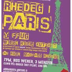 Running to Paris/Rhedeg i Baris Gig -  Fri June 3rd