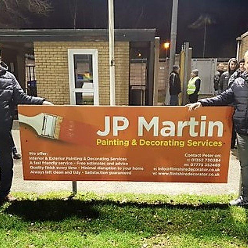JP Martin Painter & Decorator sponsors Flint