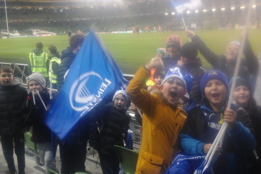 Cill dara Under 10s Christmas outing: leinster versus Exeter.