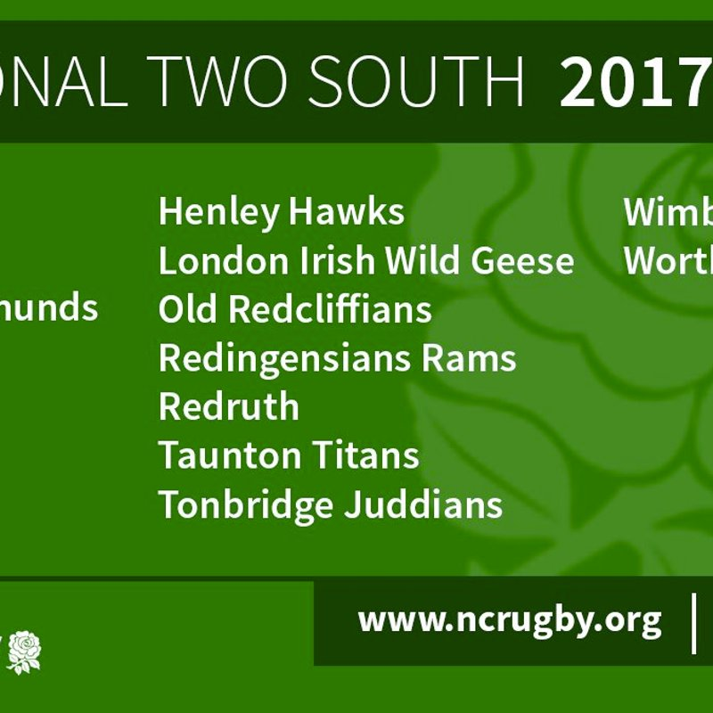 2017-18 National Two South Line-up