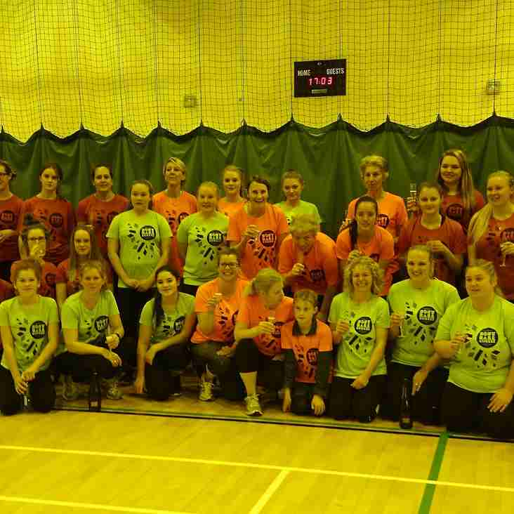 WOMEN'S SOFTBALL CRICKET TEAM PLAYS FIRST GAME INDOORS