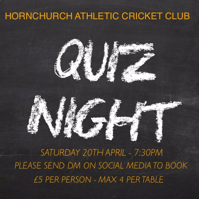 Quiz night 20th April