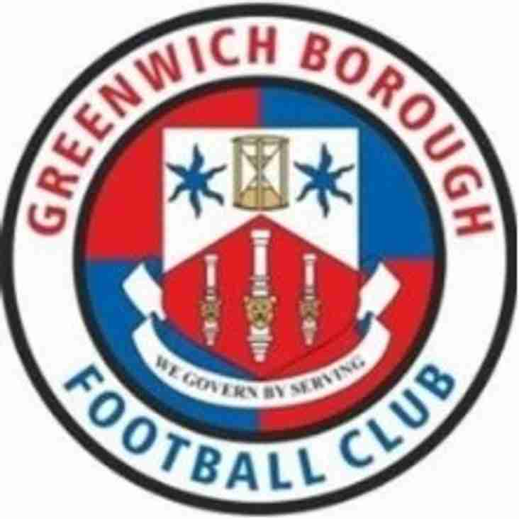 Tue 29 Nov: Greenwich Boro 3 Rams 1