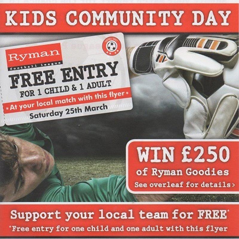 25 Mar: Ryman Community Day