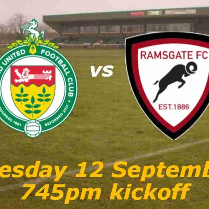 12 Sep: Ashford Utd 1 Rams 0