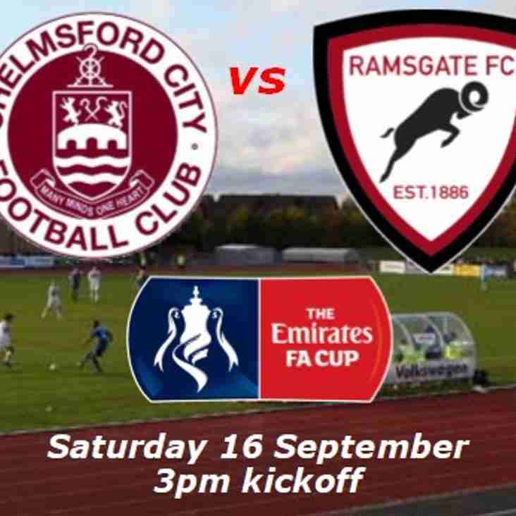 16 Sep: Chelmsford 7 Ramsgate 0