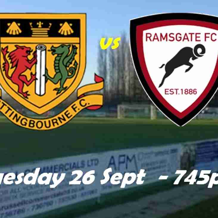 26 Sep: Sittingbourne 2 Rams 0