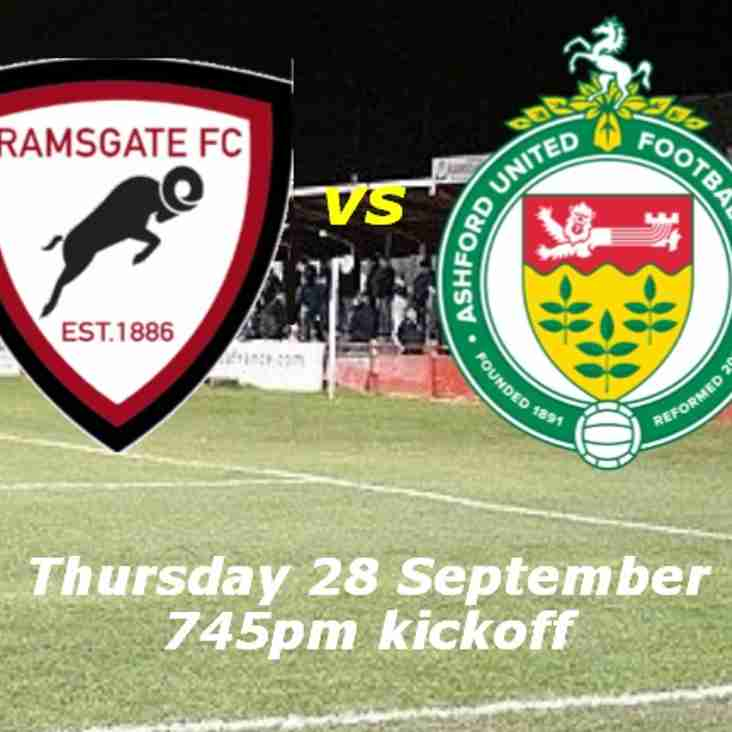 28 Sep: Under 23s 1 Ashford 2