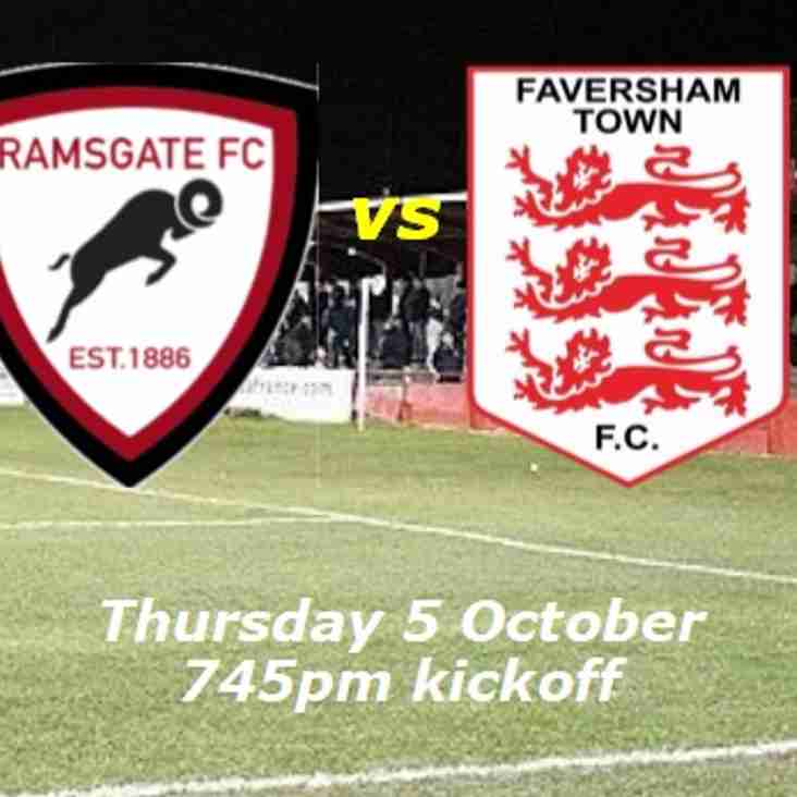 5 Oct: Under 23s 3 Faversham 0