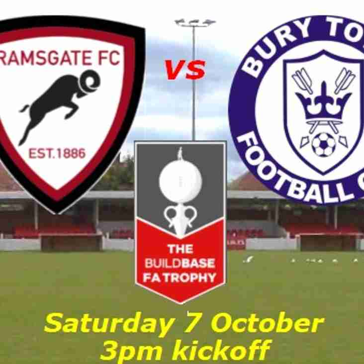 7 Oct: Rams 3 Bury Town 5 - FA Trophy