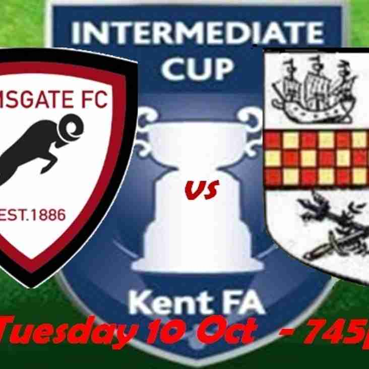 10 Oct: Under 23s 1 Chatham 4 - Kent Int Cup