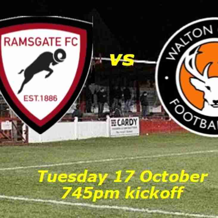 17 Oct: Ramsgate v Walton Casuals