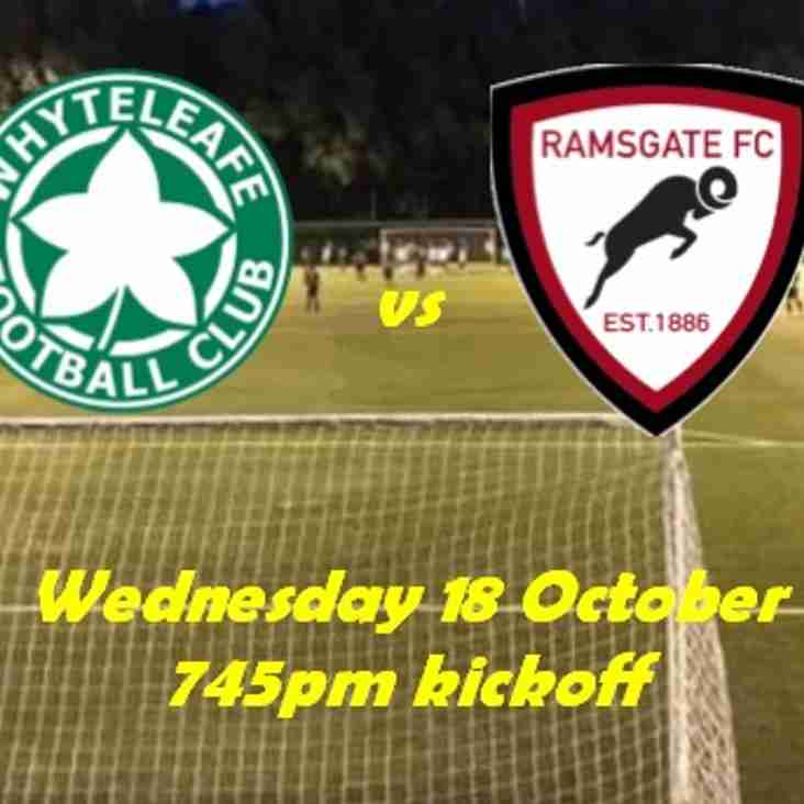 18 Oct: Whyteleafe U23s v Ramsgate