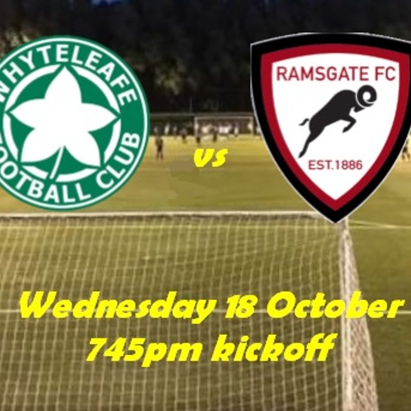 18 Oct: Whyteleafe U23s 1 Rams 3