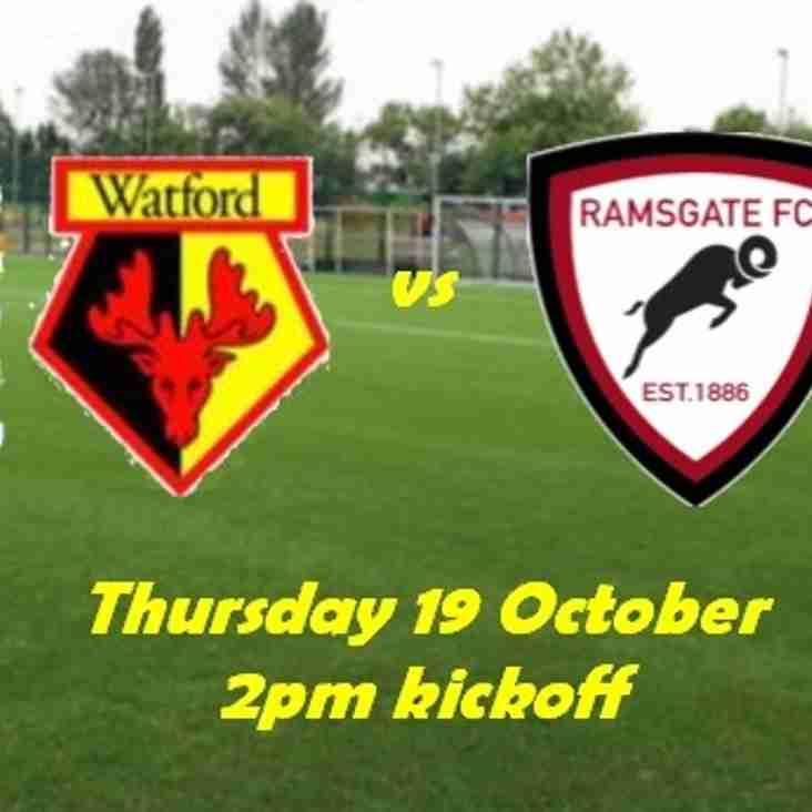 19 Oct: Watford Development 2 Rams Academy 4