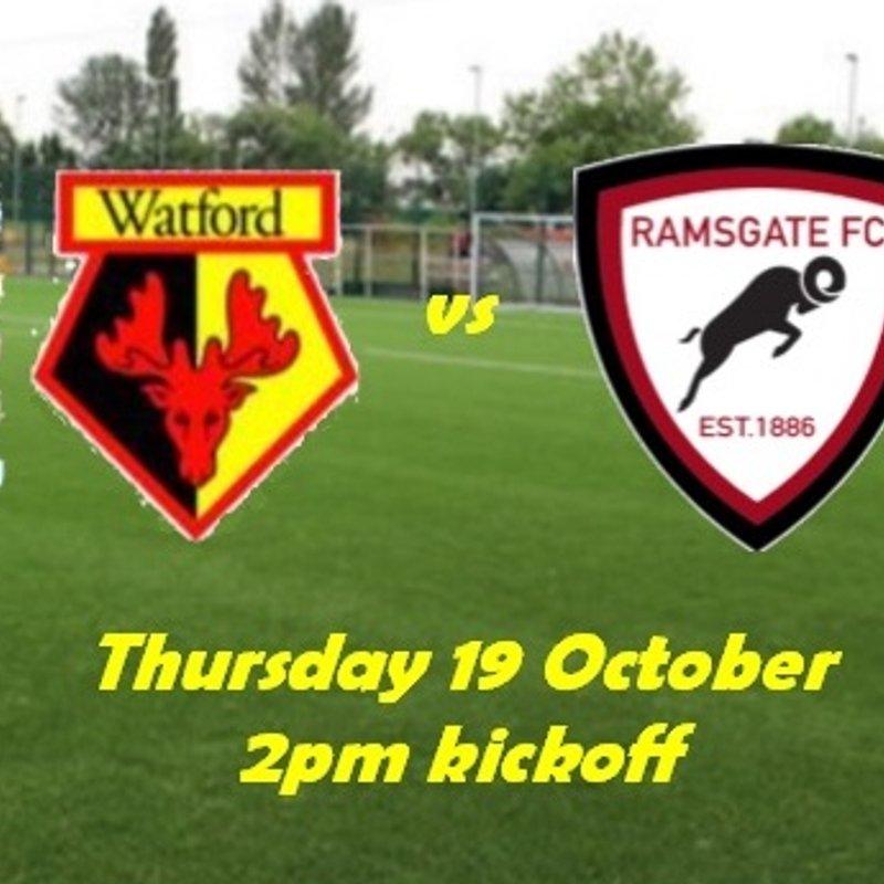 19 Oct: Watford Development 2 Rams Academy 4