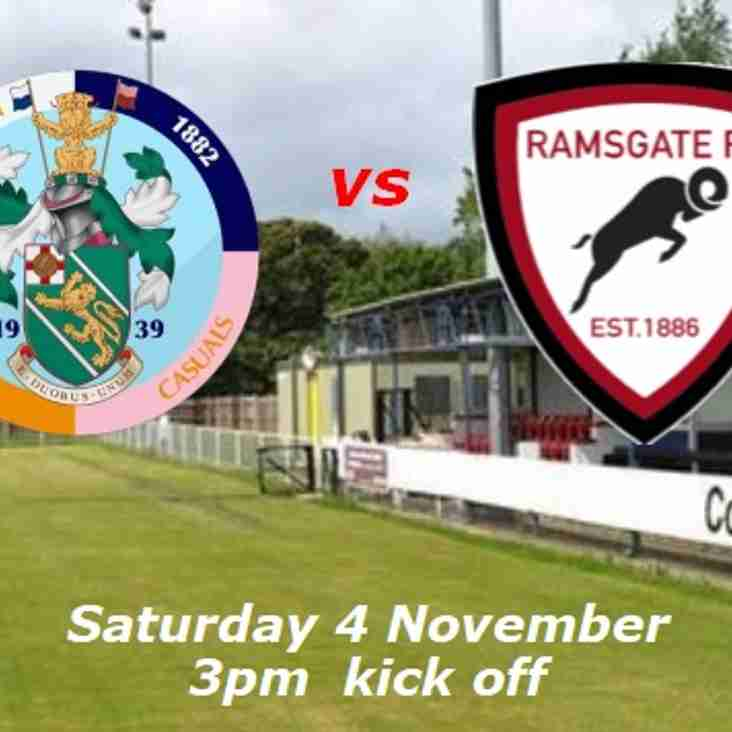 4 Nov: Corinthian-Casuals 4 Rams 2