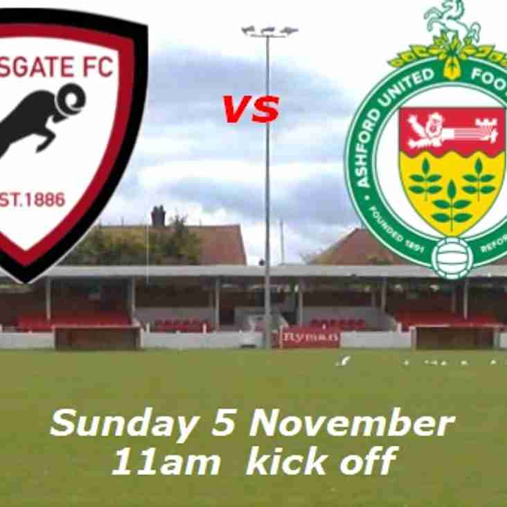5 Nov: Under 18s 0 Ashford United 4