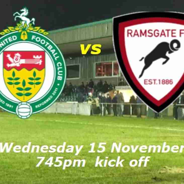 15 Nov: Ashford Utd 1 Under 23s 4