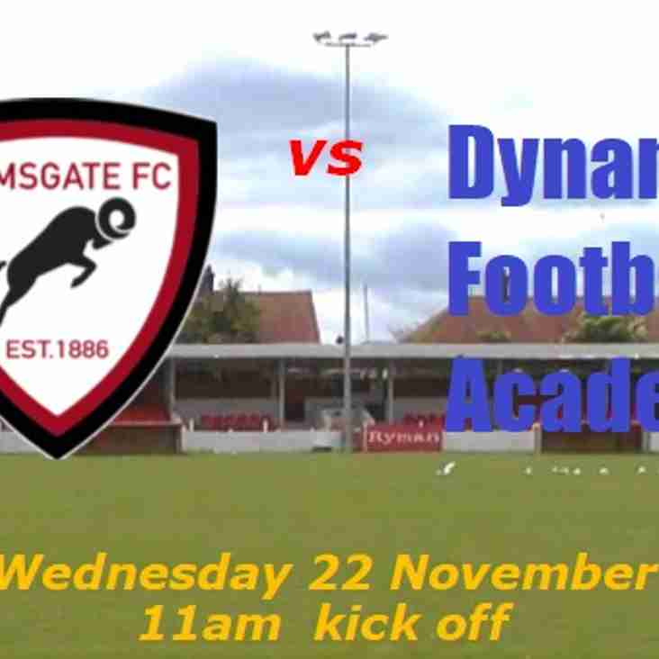 22 Nov: Academy v Dynamic Football Academy