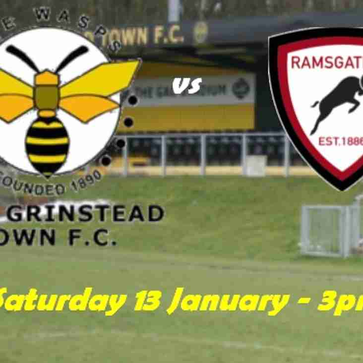 13 Jan: East Grinstead  1 Rams 0