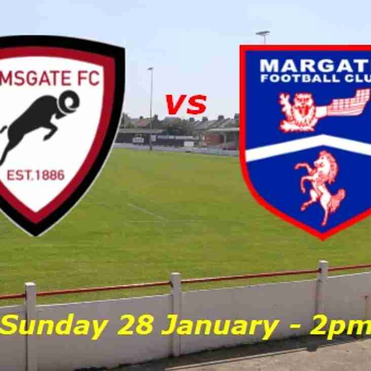 28 Jan: Under 18s 3 Margate 4