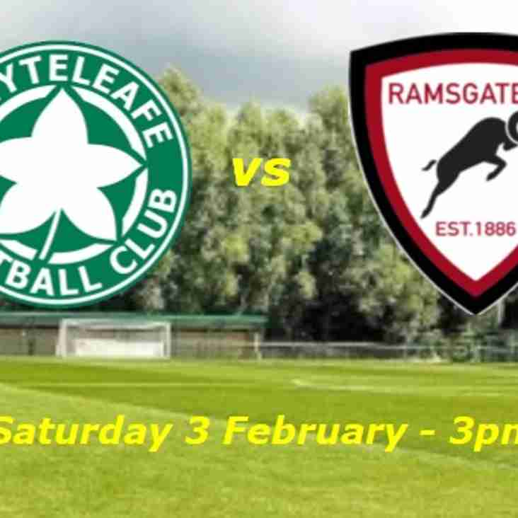 3 Feb: Whyteleafe 1 Rams 0