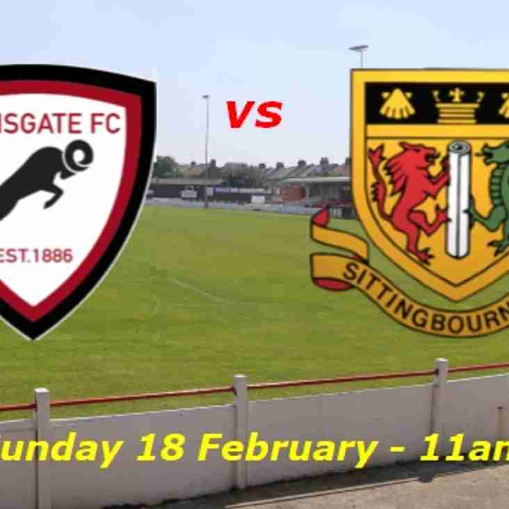 18 Feb: U18s 1 Sittingbourne 1