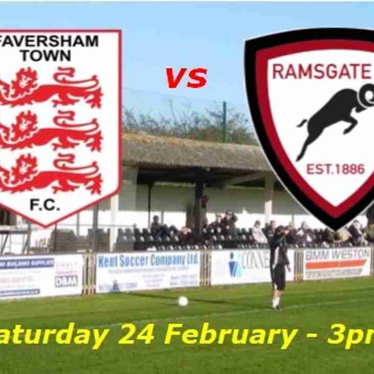 24 Feb: Faversham U23s 1 Rams 7