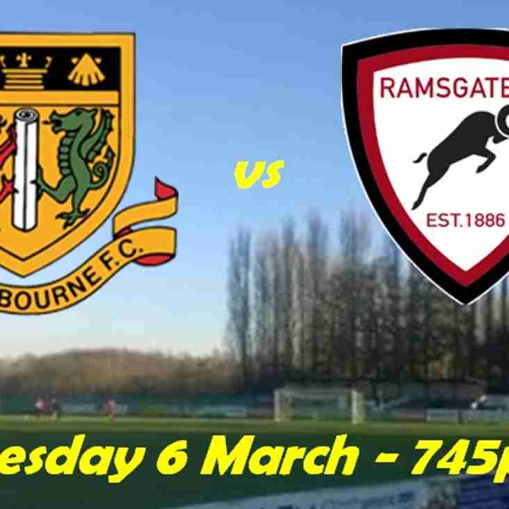 6 Mar: Sittingbourne 2 Rams 3