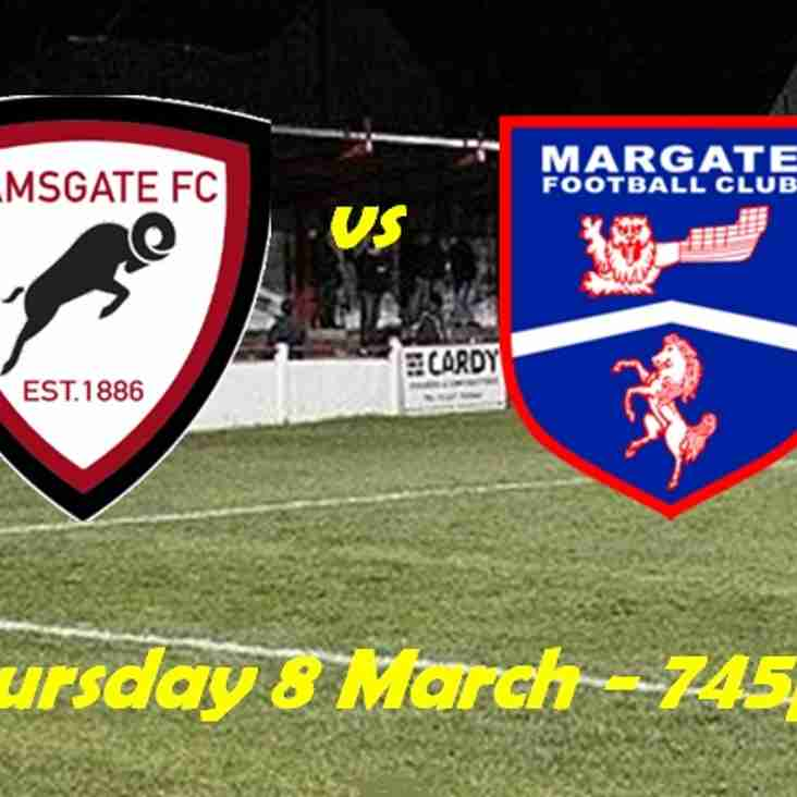 8 Mar: U23s 2 Margate 1
