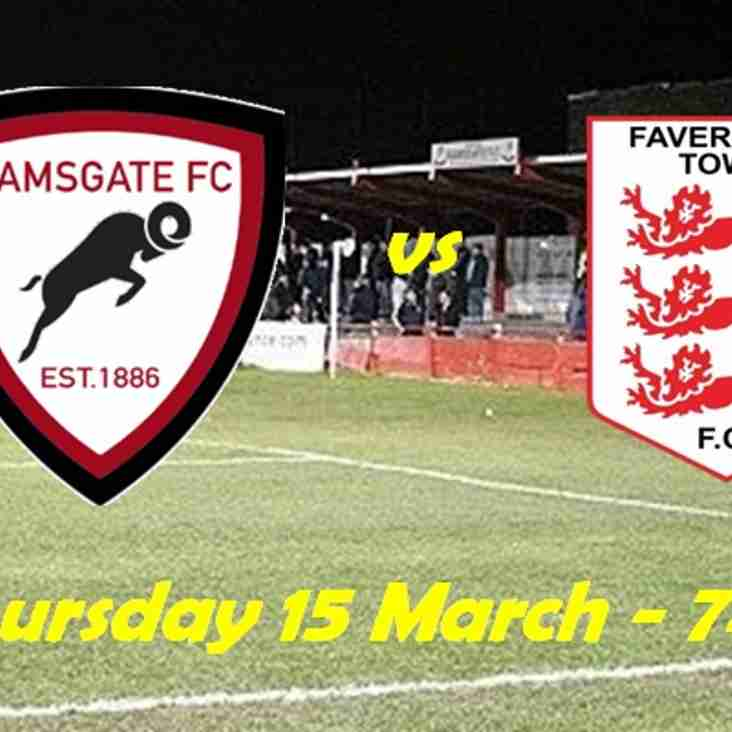 15 Mar: U23s 3 Faversham 1