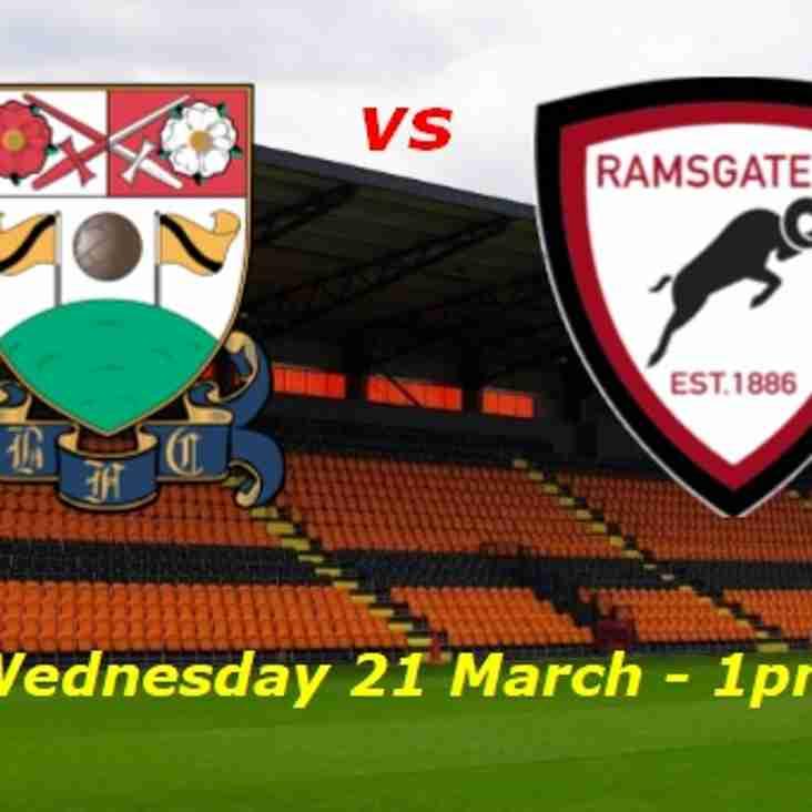 21 Mar: Barnet Academy v Ramsgate