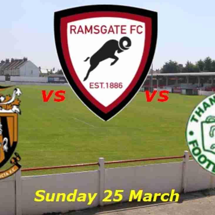 25 Mar: U15s v Folkestone & U13s v Thanet Colts