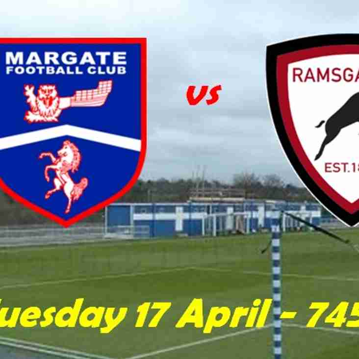 17 Apr: Margate U23s 1 Rams 2