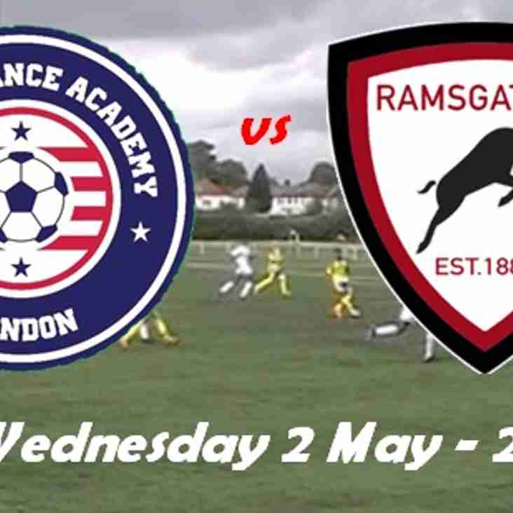 2 May: Soccer Chance v Rams Academy