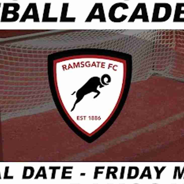 11 May: Academy Trials
