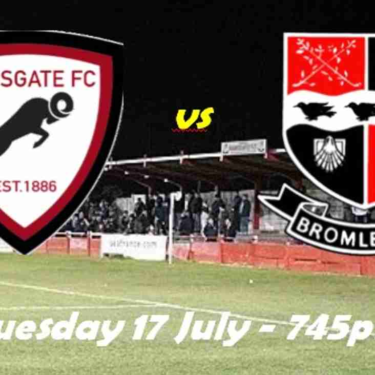 17 Jul: Rams 2 Bromley XI 0