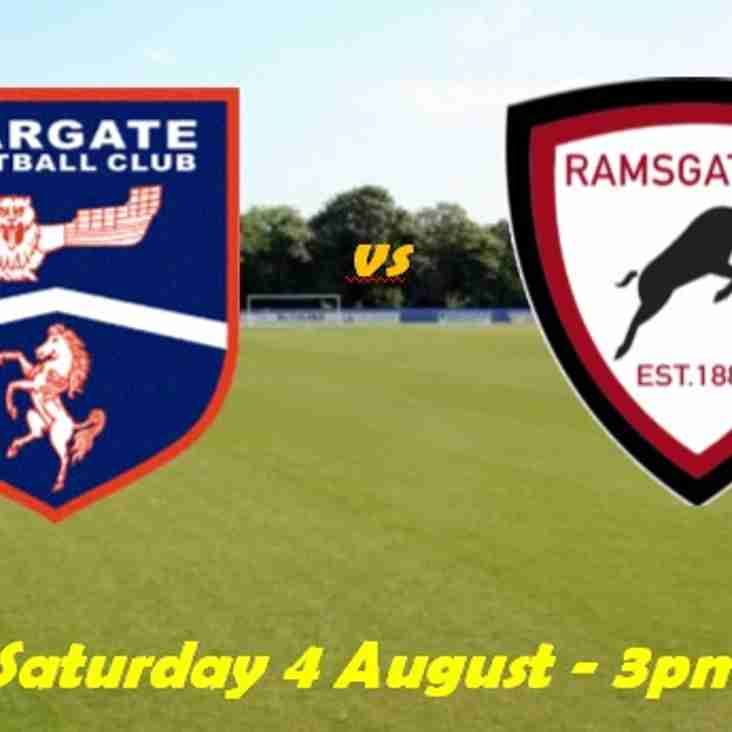 4 Aug: Margate 1 Rams 1