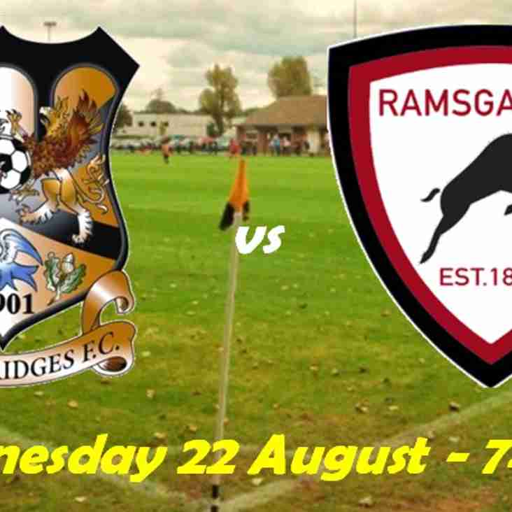 22 Aug: Three Bridges 6 Rams U23s 2