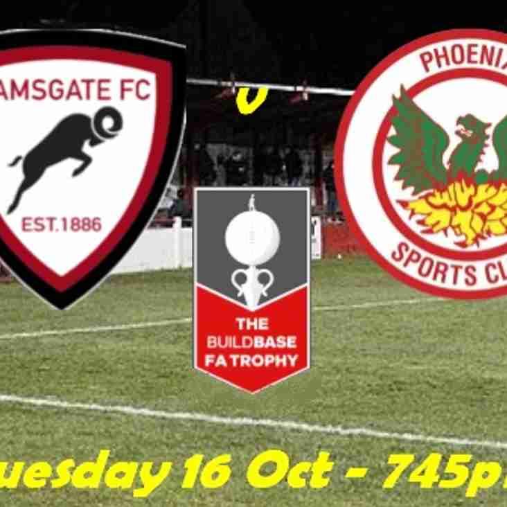 16 Oct Ramsgate v Phoenix - FA Trophy Replay