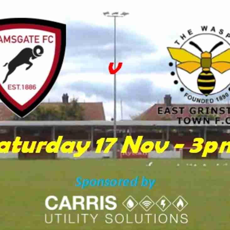 17 Nov: Ramsgate v East Grinstead Town