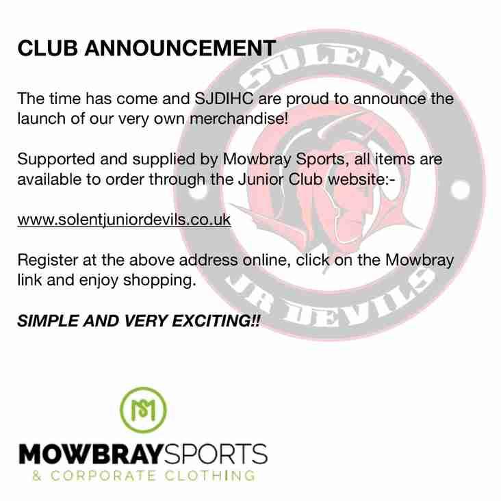 New club merchandise