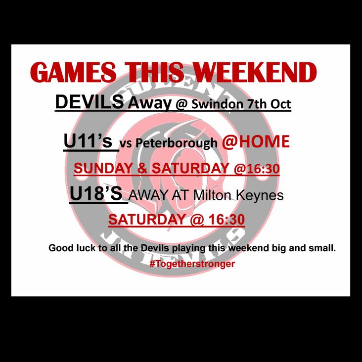 Games this weekend