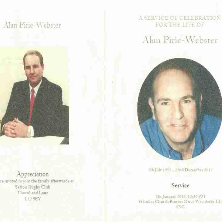 Funeral Service  Alan Webster