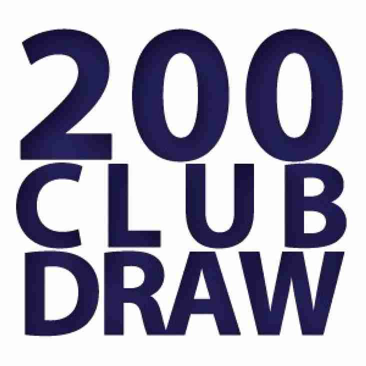 BRFC 200 Club - Latest Winners!